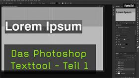 In Photoshop Texte biegen und verzerren
