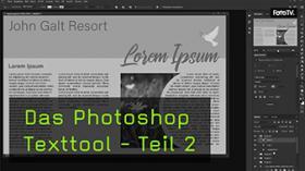 Texte in Photoshop ausrichten in Textfeldern und Einzügen
