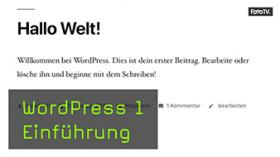 Wordpress Tutorial mit Jeremy Weimann