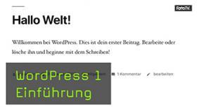 Wordpress Tutorial mit Jeremy Weimann