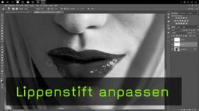 Lippenstift retuschieren