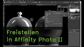 Freistellen vor grünem Hintergrund in Affinity Photo