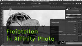 Affinity Photo: Freistellen mit dem Auswahlpinsel