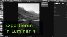 Der Bildexport in Luminar 4