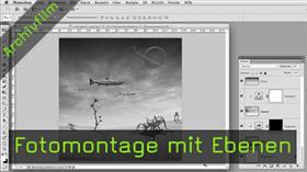 Fotomontage mit Ebenen