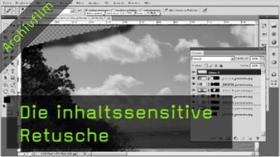 Inhalssensitive Retusche, Bereichsreparaturwerkzeug, Photoshop