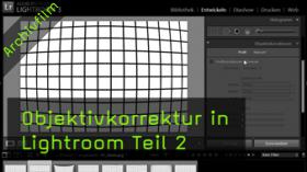 Lightroom 3, Objektivkorrektur, Vignettierung, Bildfehler