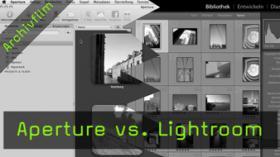 Apple Aperture 3, Adobe Lightroom, Vergleich