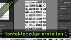 Kontaktabzüge, Lightroom