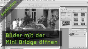 Bilder öffnen in der Mini-Bridge