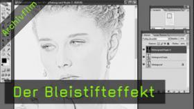 Calvin Hollywood Photoshop Bleistift Effekt
