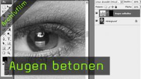 Calvin Hollywood Photoshop Augen betonen, Portrait retuschieren Photoshop