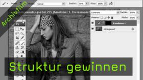 Calvin Hollywood Photoshop Strukturen, Kanalmixer Photoshop