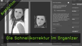 Schnellkorrektur, Organizer, Photoshop Elements