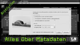 Metadaten, Exif-Daten, IPTC-Daten, Interne Daten, Lightroom