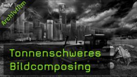 Baumaschinen-Kalender, Bildcomposing, Photoshop, HDR
