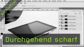 Produktfotografie, Photoshop, iPad