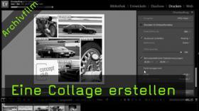 Lightroom, Drucken-Modul, Collage, Layout