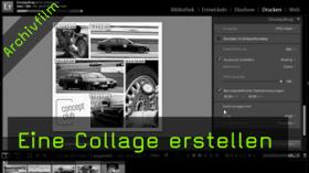 Lightroom, Drucken-Modul, Collage, Layout