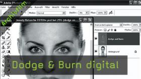 Calvin Hollywood Photoshop Beauty Retusche, Doge Burn Photoshop
