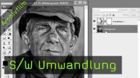 Calvin Hollywood Photoshop Bilder in schwarz weiß umwandeln