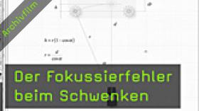 Fokussierfehler, Schärfentiefe, Messfelder