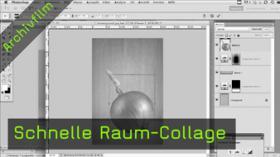 Raum-Collage, photoshop