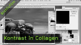 Kontrast in Collagen