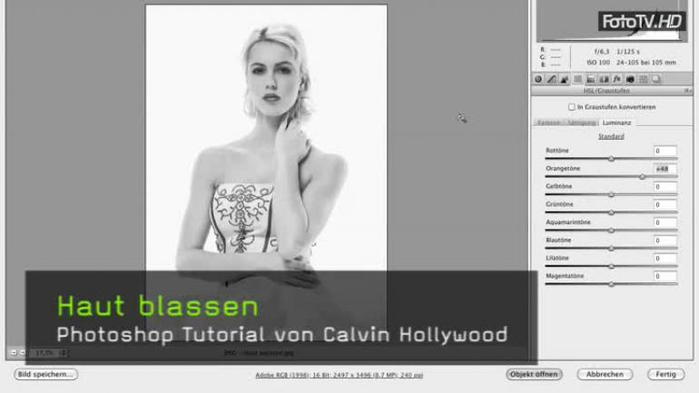 Photoshop CS5 Haut aufhellen