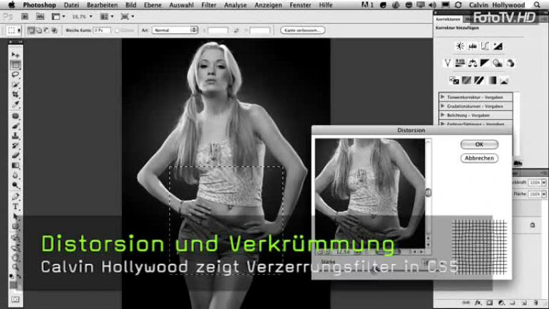 Calvin Hollywood Photoshop verzerren