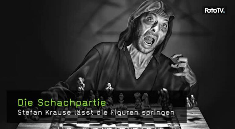 Schachpartie mit Lichtschranke fotografieren