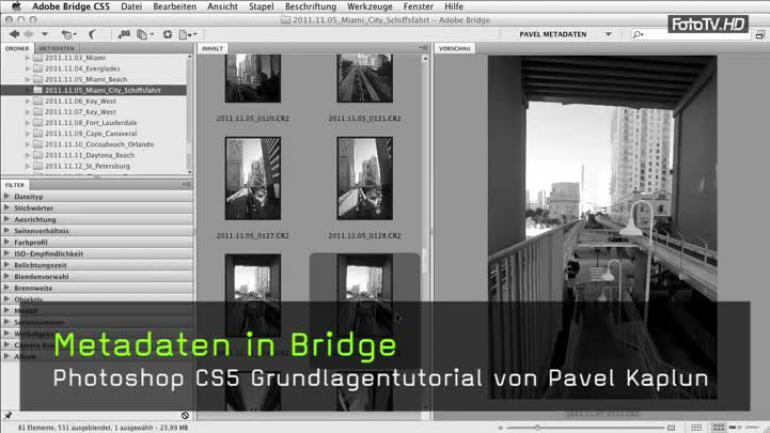 Metadaten in Bridge