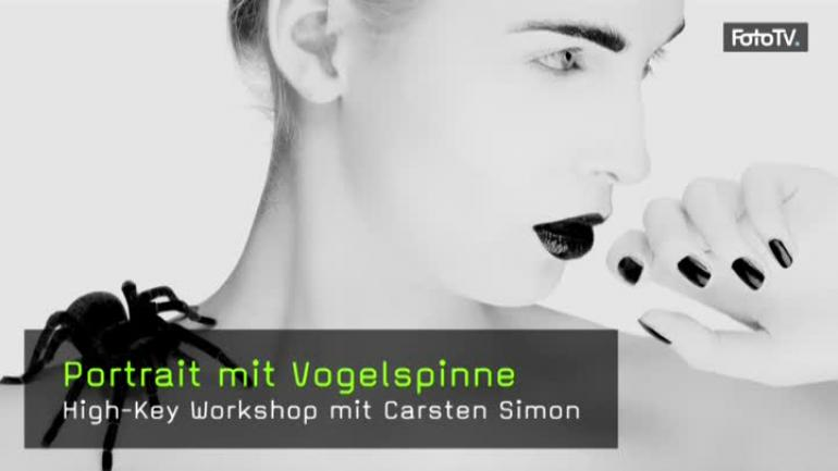 video portrait mit vogelspinne high key workshop mit carsten simon. Black Bedroom Furniture Sets. Home Design Ideas