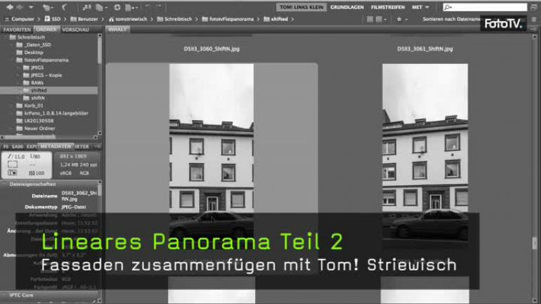 Panorama Fotografie lineares Panorama Großstadt