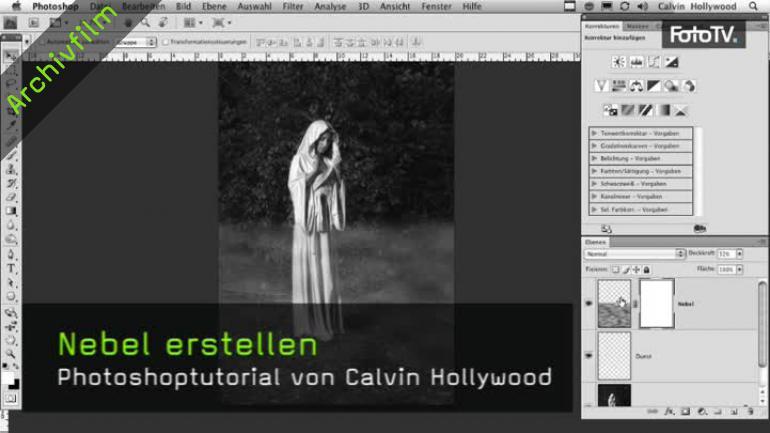 Video Calvin Hollywood Zeigt Wie Ihr In Photoshop Cs 5 Nebel Erzeugt