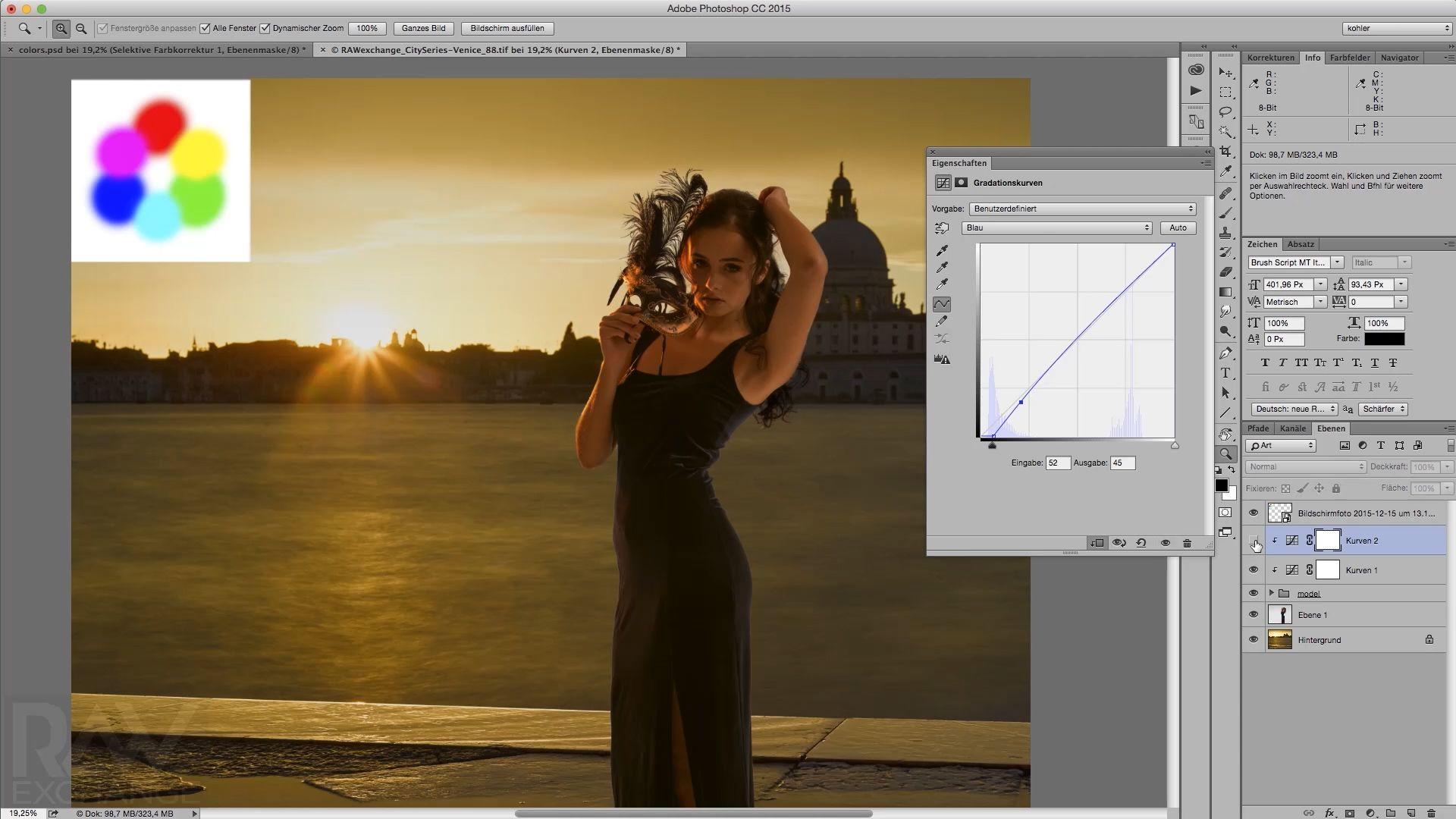 Video-Tutorial, Farben und Photoshop